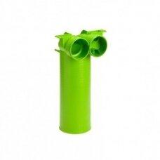 AE34c plastikinė difuzoriaus dėžutė, 90° DN125 - 2 x DN75 Air Excellent, antistatinis ir antibakterinis plastikas