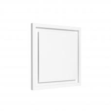 Difuzorius kvadratinis DKS storu fasadu ir montavimo lizdu