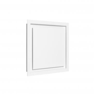 Difuzorius kvadratinis DKP plonu fasadu ir montavimo lizdu
