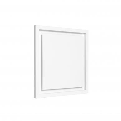 Difuzorius kvadratinis DKS storu fasadu ir montavimo lizdu 2