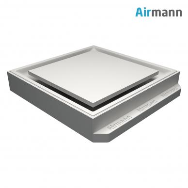 Kvadratinis gipsinis priglaistomas oro difuzorius AIRMANN Square 3