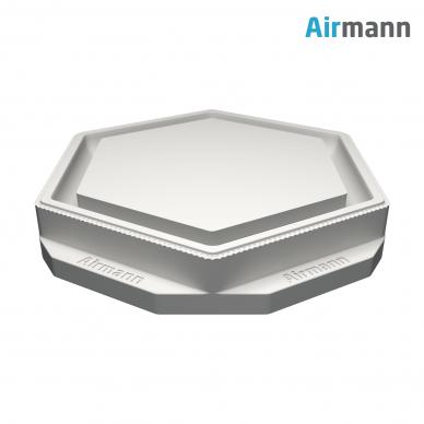Šešiakampis gipsinis priglaistomas oro difuzorius AIRMANN Hexa 3