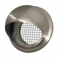 Sferinės formos nerūdijančio plieno antgalis oro įsiurbimui ar išmetimui per fasadą